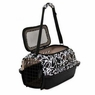 Petmate 21605 Curvations Top Load Small Pet Kennel, Black/White