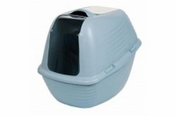 Petmate Arm & Hammer Hooded Litter Pan Pearl Ashely Blue Large
