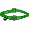 Petmate Eco Breakaway Adjustable Cat Collar Circles Green 3/8 X 8-12in