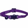 Petmate Eco Breakaway Adjustable Cat Collar Circles Purple 3/8 X 8-12in