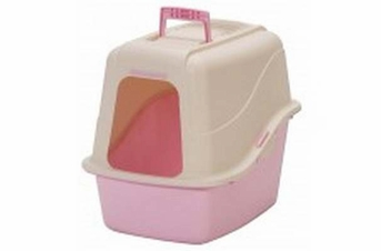 Petmate Hooded Litter Pan Set With Microban Bleached Linen Lady Pink Large