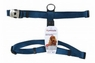 Petmate Signature Deluxe Adjustable Harness Blue 3/4In X 20-28In