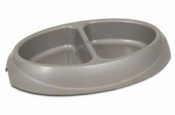 Petmate Ultra Lightweight Double Diner With Microban Assorted 1cup Side