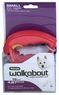 Petmate Walkabout Corded Retractable Leash Red Small