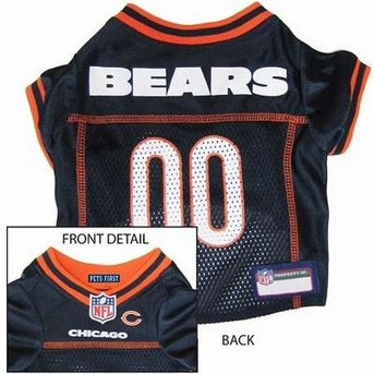 Pets First Chicago Bears NFL Dog Jersey - Extra Small