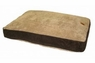 Precision SnoozzyGusset Floor Pillow Beige Suede Wide Chenille 30x40