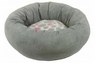 Precision Donut Bed - Pink Spot Plush-Grey Corduroy 17in