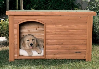 Precision outback log cabin dog house large 45x33x33 at for Outback log cabin dog house