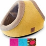Precision Pet SnooZZy Mod Chic Double Hide and Seek Bed, 27 by 14-Inch, Buff Yellow