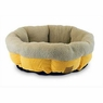Precision Pet SnooZZy Mod Chic Round Shearling Cup Bed, 21-Inch,  Buff Yellow