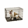 Precision Pet ProValu2 30 by 19 by 21-Inch 2-Door Crate with Lock System, Size 3000, Black