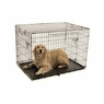 Precision Pet ProValu2 42 by 28 by 30-Inch 2-Door Crate with Lock System, Size 5000, Black