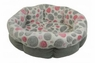 Precision Shearling Round Bed - Pink Spot Plush-Grey Corduroy 21in