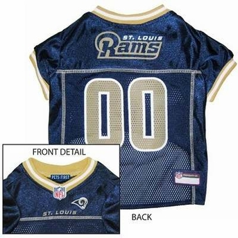 St. Louis Rams NFL Dog Jersey - Large