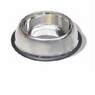 Stainless Steel Non Tip Dish W/rubber Ring 32oz