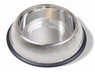 Stainless Steel Non Tip Dish w/rubber ring 64oz