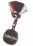 TireBiter Chew Toy Ball with Rope, Black, 4-1/2-Inch
