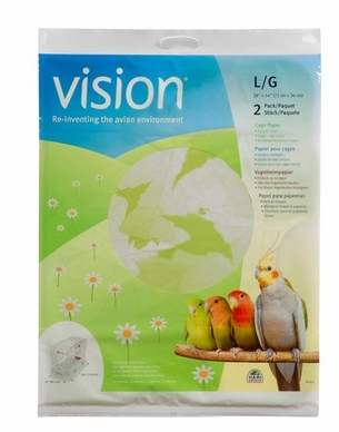 """Vision Bird Cage Paper, Large 28"""" x 14"""", From Hagen"""
