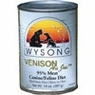 Wysong Canine / Feline - Can Venison All Meat, 12 Pack Of 13Oz Case