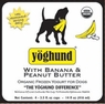 Yoghund Organic Yoghund Peanut Butter And Banana, 1 Pack Of 4-3.5Oz Case