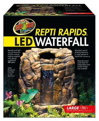 Zoo Med Reptirapids Led Waterfall Rock Large At