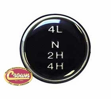 1) Dana 300 Transfer Case Shift Knob Pattern Insert for 1980-86 Jeep CJ