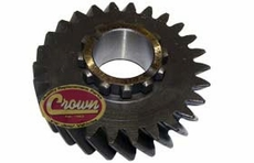 27) Output Shaft Gear, fits 1963-79 Jeep CJ, C-101 Jeepster, J-Series & Wagoneer with Dana 20 Transfer Case, (Mark 18-8-44) 26 Teeth Count