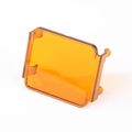 3 Inch Square LED Light Cover, Amber by Rugged Ridge