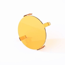3.5-Inch LED Light Cover, Round, Amber by Rugged Ridge