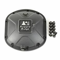 Black Boulder Aluminum Differential Cover for Dana 30 Axles, Universal Fitment
