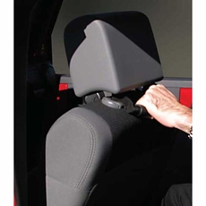 Front Headrest Grab Handles, Red, 07-17 Jeep Wrangler by Rugged Ridge