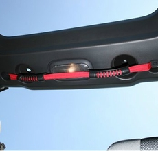 Rear Dual Grab Strap, Red, 07-17 Jeep Wrangler Unlimited by Rugged Ridge