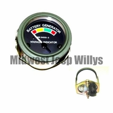 M-Series 24 Volt Battery Gauge with Packard Rubber Connectors