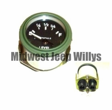 M-Series 24 Volt Fuel Gauge with Packard Rubber Connectors, MS24544-2