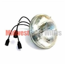 24 Volt Head Lamp Sealed Beam, fits 1950-1966 Willys Jeep M38 and M38A1 Models