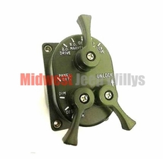 24 Volt Light Control Switch for Military Vehicles, 3 Lever Type
