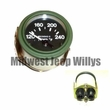 M-Series 24 Volt Temperature Gauge with Packard Rubber Connectors, MS24543-2