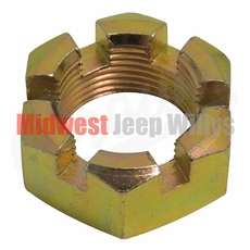 26) Castle Nut for Transfer Case Yolk, 3/4-20 Thread, fits 1941-46 MB, GPW, Early CJ2A with Dana Spicer 18 Transfer Case