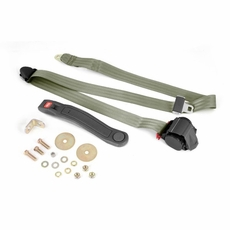 3-Point Seat Belt, Olive, Retractable, Universal Application