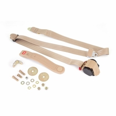 3-Point Seat Belt, Tan, Retractable, Universal Application