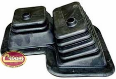 4)�Dana Model 300 Transfer Case Twin Shifter Boot for 1980-86 Jeep CJ-5, CJ-7, CJ-8 Scrambler with T176 - T177 4 Speed Transmissions
