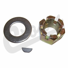 4) Nut & Washer Kit with Key, For 76-86 CJ Series with AMC Model 20 Rear Axle