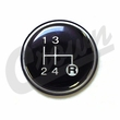 4 Speed Transmission Shift Knob Insert for 1980-1986 Jeep Models, T4, T176, T177 Transmissions