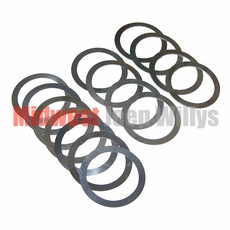 6) Differential Carrier Bearing Shim Set, Dana Model 23-2 Axle, 1941-1945 Willys MB, Ford GPW