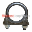 Muffler to Tailpipe 1-1/2 inch Exhaust Clamp for 1941-1971 Jeep MB, CJ2A, CJ3A, CJ3B, CJ5