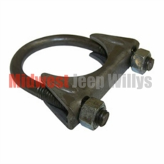 Exhaust Pipe to Muffler 1-3/4 inch Exhaust Clamp for 1941-1971 Jeep MB, CJ2A, CJ3A, CJ3B, CJ5
