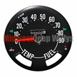Speedometer Gauge Dial Head w/ Odometer, 0-90 MPH Dial, fits 1955-79 Jeep CJ Models