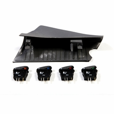 A-Pillar 4 Switch Pod Kit, Black, RHD, 2007-10 Jeep Wrangler JK by Rugged Ridge