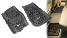 Floor Liners, Kit, Black, 05-10 Jeep Grand Cherokee by Rugged Ridge