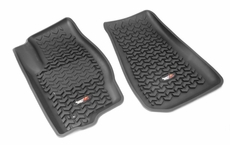 Floor Liners, Front, Black, 05-10 Jeep Commander/Grand Cherokee by Rugged Ridge